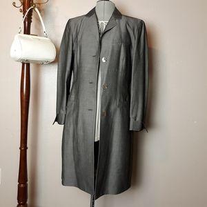 Vintage Italian viscose wool long blazer